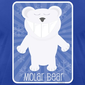 The Molar Bear - Men's T-Shirt by American Apparel