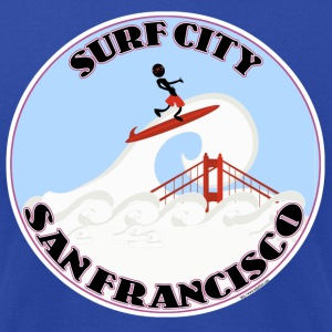 Surf City San Francisco - Men's T-Shirt by American Apparel