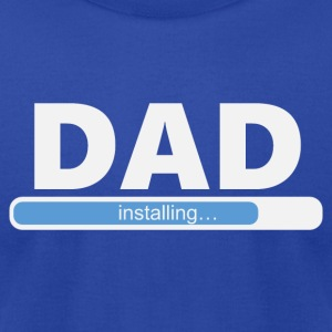 Installing DAD (1057) - Men's T-Shirt by American Apparel