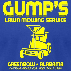 Gump s Lawn Mowing Service - Men's T-Shirt by American Apparel