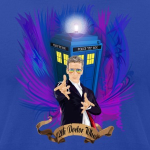 12th Doctor with rainbow Ray ban glasses - Men's T-Shirt by American Apparel