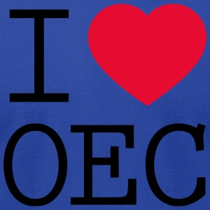 I love OEC - Men's T-Shirt by American Apparel