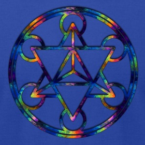Fractal Tetrahedron Psychedelic Sacred Geometry - Men's T-Shirt by American Apparel