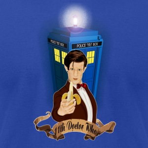 11th Doctor with Banana - Men's T-Shirt by American Apparel