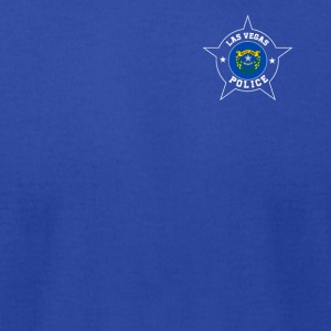 Las Vegas Police T Shirt - Nevada flag - Men's T-Shirt by American Apparel