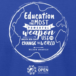 Education is the most powerful weapon (White) - Men's T-Shirt by American Apparel