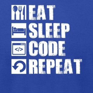 Eat Sleep Code Geek Computer Science Programmer - Men's T-Shirt by American Apparel