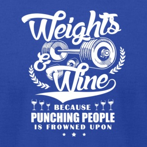 Weights And Wine - Men's T-Shirt by American Apparel