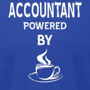 Accountant Powered By Coffee T Shirt - Men's T-Shirt by American Apparel
