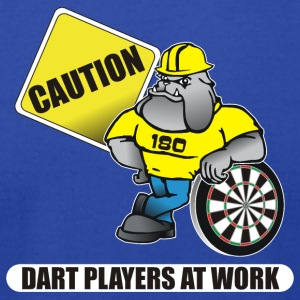 Dart Players At Work Darts Shirt - Men's T-Shirt by American Apparel