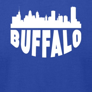 Buffalo NY Cityscape Skyline - Men's T-Shirt by American Apparel