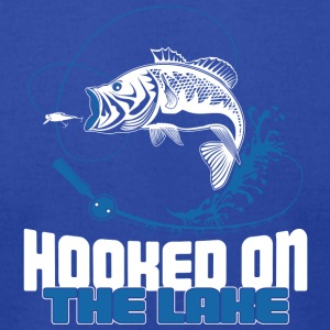 Hooked on the Lake - Men's T-Shirt by American Apparel