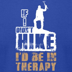 Hiking is my therapy - Men's T-Shirt by American Apparel