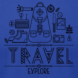 Travel - Men's T-Shirt by American Apparel