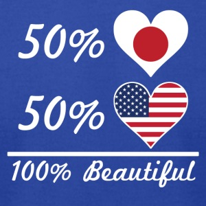 50% Japanese 50% American 100% Beautiful - Men's T-Shirt by American Apparel