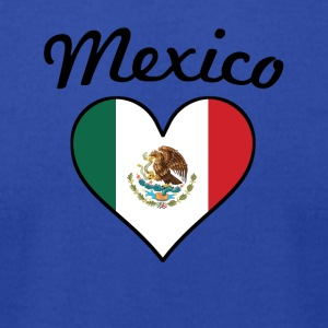 Mexico Flag Heart - Men's T-Shirt by American Apparel