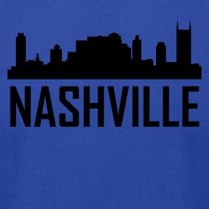 Nashville Tennessee City Skyline - Men's T-Shirt by American Apparel