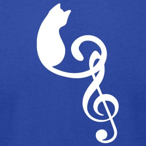 Silhouette Cat Treble Clef Note Music Lover - Men's T-Shirt by American Apparel