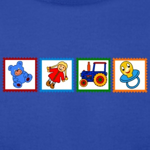 Four stamps with toys - Men's T-Shirt by American Apparel