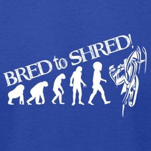 sled-evolution - Men's T-Shirt by American Apparel