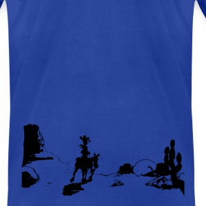 Lucky Luke closing credits scene - Men's T-Shirt by American Apparel