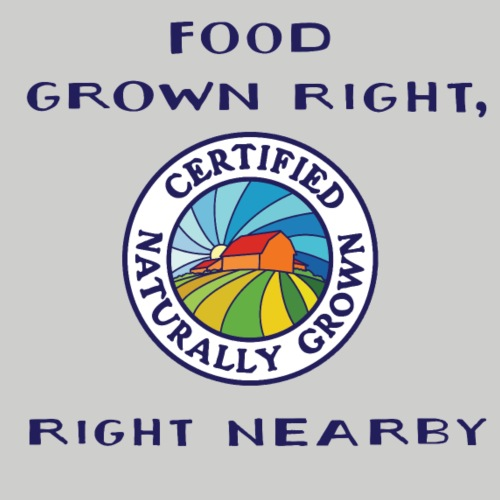 Food Grown Right (Blue) - Unisex Jersey T-Shirt by Bella + Canvas