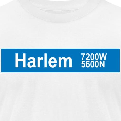 Harlem Blue Line - Unisex Jersey T-Shirt by Bella + Canvas