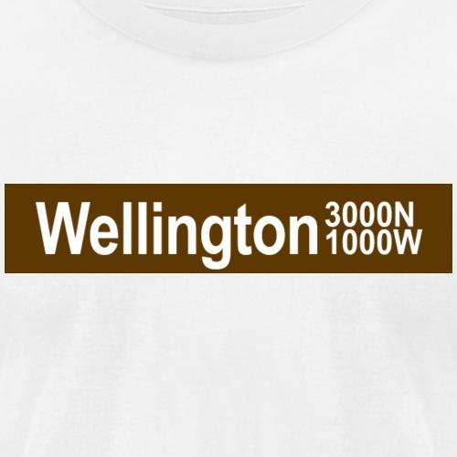 Wellington CTA Brown Line - Unisex Jersey T-Shirt by Bella + Canvas
