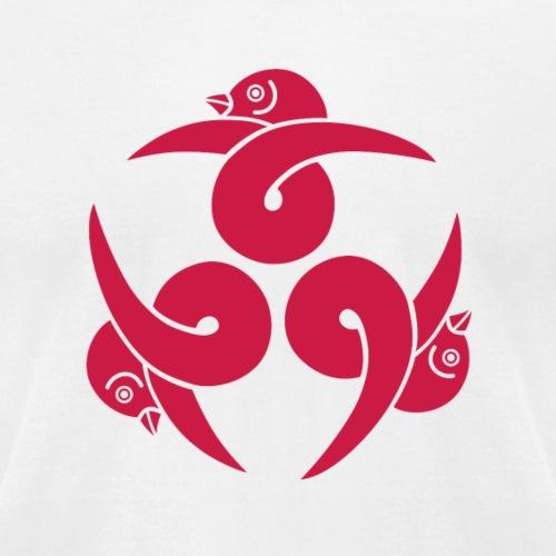 Three Geese Japanese purple kamon - Unisex Jersey T-Shirt by Bella + Canvas