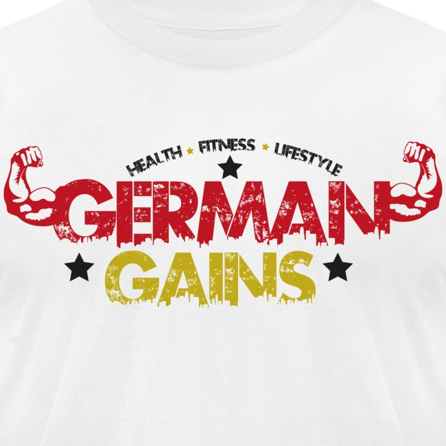 German Gains Logo fuer weisses Shirt png