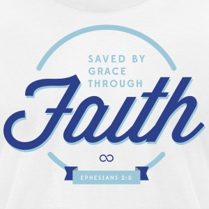 Saved by Grace - Men's T-Shirt by American Apparel