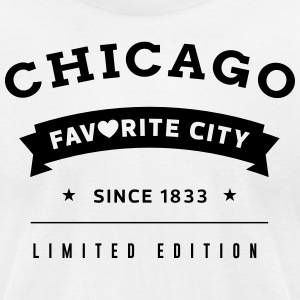Favorite City Chicago - Men's T-Shirt by American Apparel