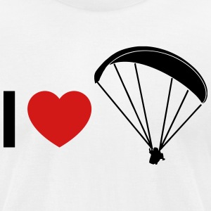i love paragliding - Men's T-Shirt by American Apparel