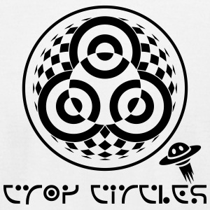 crop circles 5 - Men's T-Shirt by American Apparel