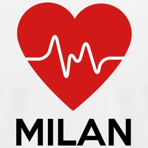 Heart Milan - Men's T-Shirt by American Apparel
