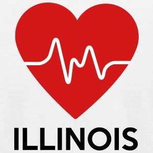 Heart Illinois - Men's T-Shirt by American Apparel