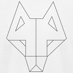 Geometric Wolf - Men's T-Shirt by American Apparel