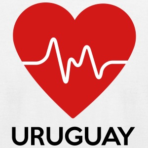 Heart Uruguay - Men's T-Shirt by American Apparel