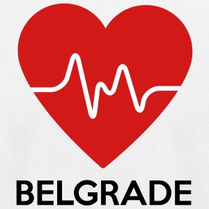 Heart Belgrade - Men's T-Shirt by American Apparel