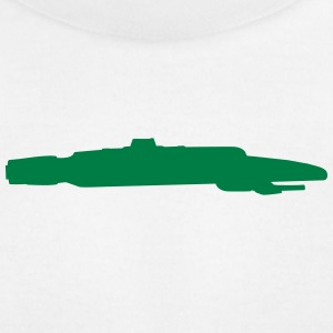 Spaceship vector Silhouette - Men's T-Shirt by American Apparel