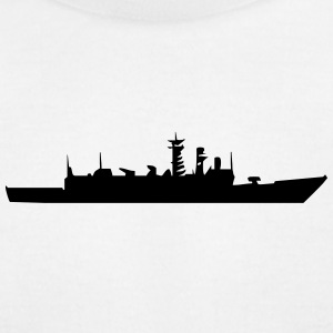 Vector Warship silhouette - Men's T-Shirt by American Apparel