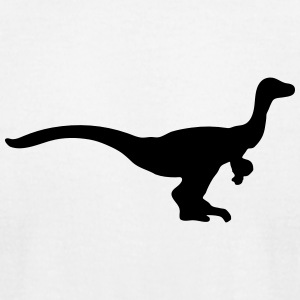 Dinosaur vector Silhouette - Men's T-Shirt by American Apparel