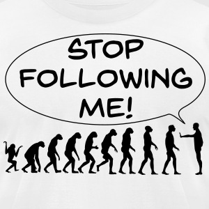 The Flight of Man - Stop Following Me! - Men's T-Shirt by American Apparel