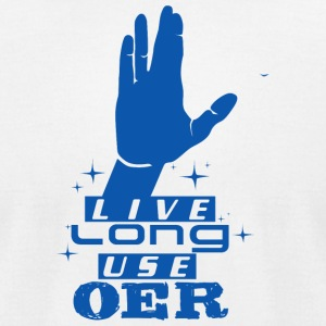 Live Long Use OER (Blue) - Men's T-Shirt by American Apparel