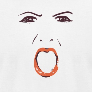Shouting woman face - Men's T-Shirt by American Apparel