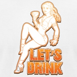 Lets_drink_sexy_girl - Men's T-Shirt by American Apparel