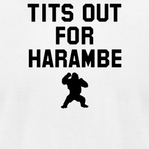 Tits Out For Harambe - Men's T-Shirt by American Apparel