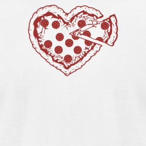 Pizza My Heart - Men's T-Shirt by American Apparel