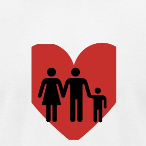 Love Family Transparent - Men's T-Shirt by American Apparel