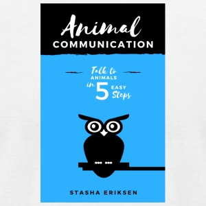 Animal Communication Book Cover - Men's T-Shirt by American Apparel